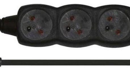 EMOS 4x zásuvka, 5m černý (1902240500)