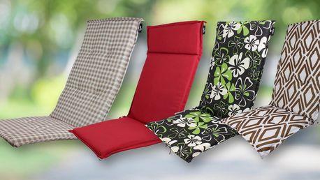 Polstry na zahradní židle a lehátka: 15 variant