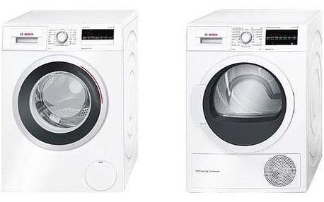 Set Bosch - pračka WAN28260CS + sušička WTW87467CS