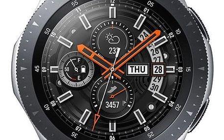 Chytré hodinky Samsung Galaxy Watch 46mm LTE stříbrné (SM-R805FZSATMZ)