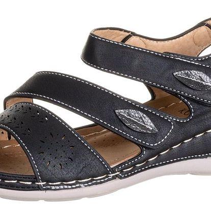 Dámské zdravotní sandály Koka na suchý zip umělá kůže ZX0039-1302