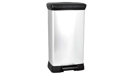 CURVER DECOBIN 32825 Odpadkový koš pedal 50l - stříbrný