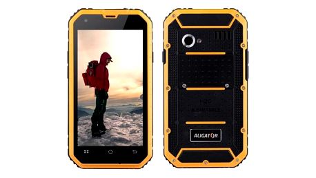 Aligator RX460 eXtremo 16 GB Dual SIM černý/žlutý (ARX460BY)
