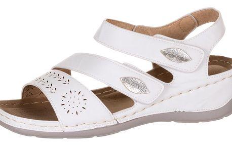 Dámské zdravotní sandály Koka na suchý zip umělá kůže ZX0039-0801