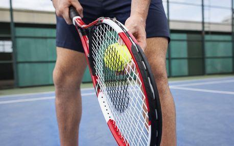 1 hodina pronájmu tenisového kurtu v Lužánkách