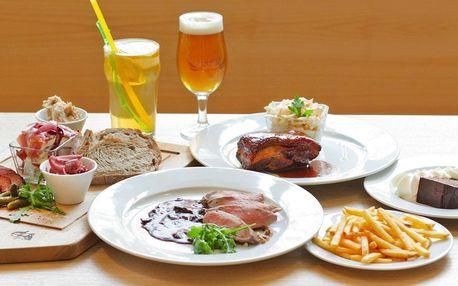 Pivovarské menu: žebra, panenka i pivní dort pro 2
