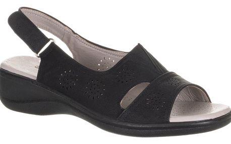 Dámské sandály Cabin na suchý zip pro vysoké nárty umělá kůže ZX0040-0902