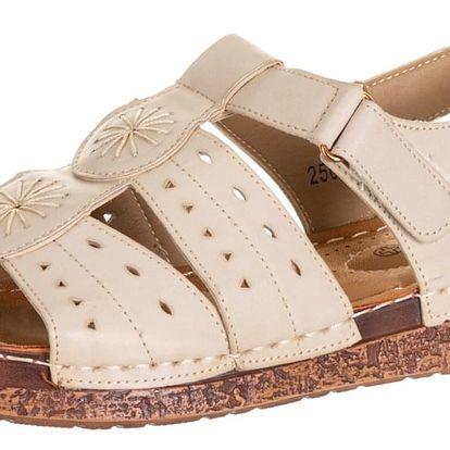 Minke dámské sandály na suchý zip umělá kůže ZX0037-1244