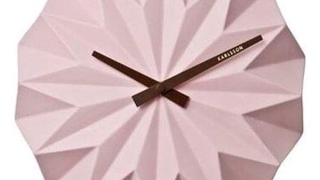 Karlsson KA5531PI Designové nástěnné hodiny, 27 cm