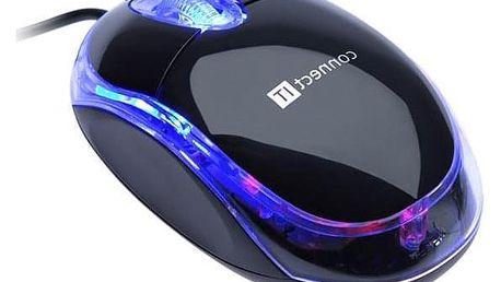 Connect IT LED podsvícená černá / optická / 3 tlačítka / 800dpi (CI-129)