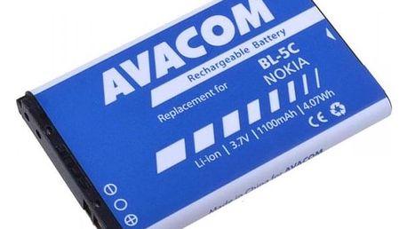 Baterie Avacom pro Nokia 6230, N70, Li-Ion 1100mAh (náhrada BL-5C) (GSNO-BL5C-S1100A)
