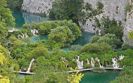 Chorvatsko - Plitvická jezera na 7 dní, bez stravy s dopravou vlastní