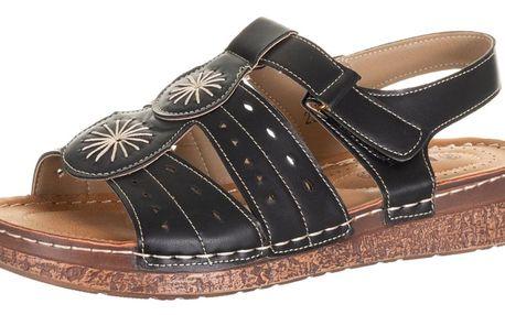 Minke dámské sandály na suchý zip umělá kůže ZX0037-0902