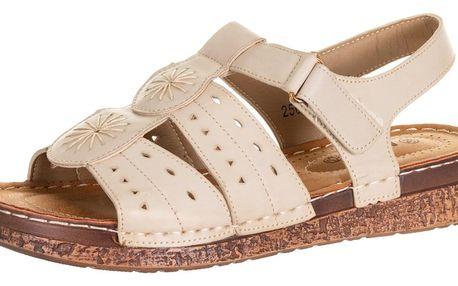 Minke dámské sandály na suchý zip umělá kůže ZX0037-1044
