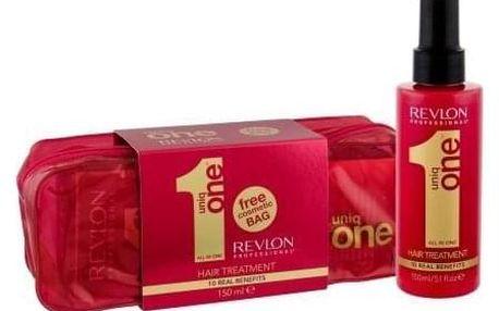 Revlon Professional Uniq One dárková kazeta pro ženy bezoplachová maska na vlasy 150 ml + kosmetická taška