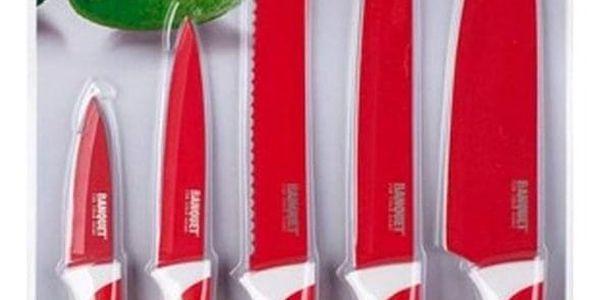 Banquet 5dílná sada nožů s nepřilnavým povrchem, SYMBIO Rosso2