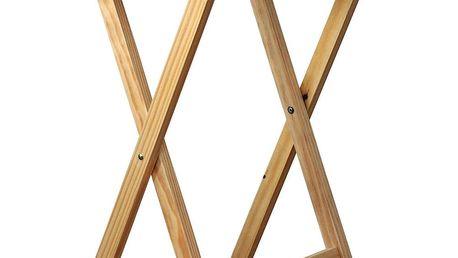 Skládací stolek dřevěný, přírodní