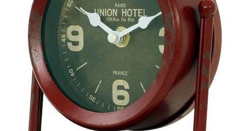 Stolní hodiny Union hotel zelená, pr. 15 cm