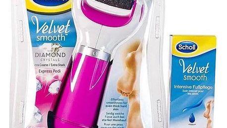 Scholl Velvet Smooth + krém růžová