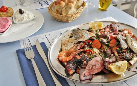Řecké rybí speciality pro 2 osoby: pražma i kaviár