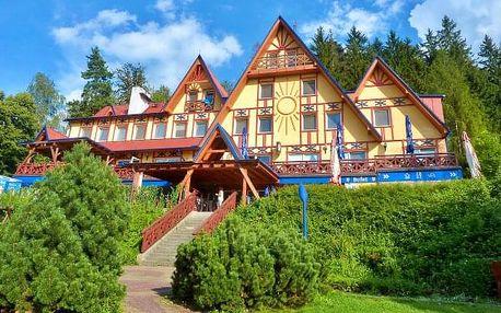 Beskydy v penzionu Sluníčko s polopenzí, wellness a bazénem + Beskydy Card
