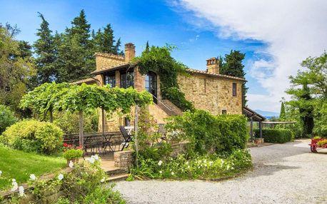 Léto nebo podzim v Toskánsku s vínem a večeří
