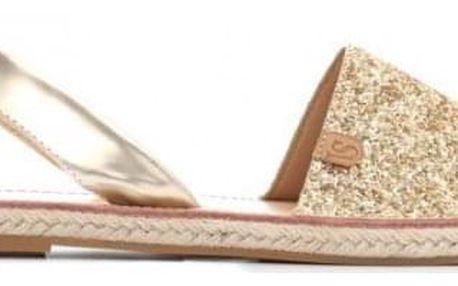 Dámské zlaté sandály Auga 8467