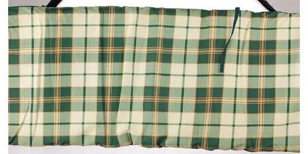HAPPY GREEN Polstr na houpačku zelená kostka2
