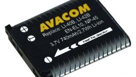 Baterie Avacom Olympus Li-40B/Li-42B/Fujifilm NP-45/Nikon EN-EL10 Li-ion 3,7V 740mAh (DIOL-LI40-AVA)