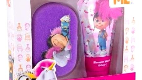Minions Unicorns dárková kazeta pro děti sprchový gel 150 ml + mycí houba