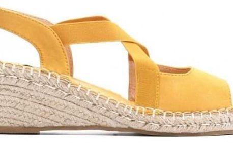 Žluté sandály na klínku Madrid 1556