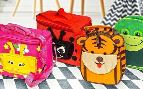 Dětské batůžky a tašky na svačinu se zvířátky