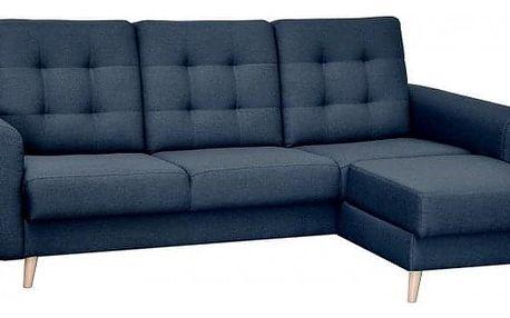 Rohová sedačka rozkládací Avanti pravý roh ÚP modrá