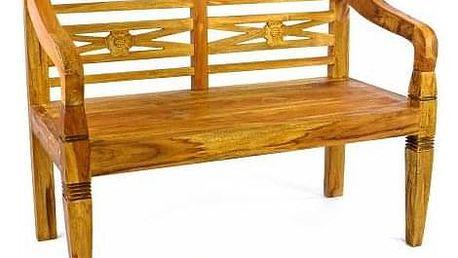 Divero 2164 dřevěná zahradní lavice pro 2 osoby ve starožitném designu