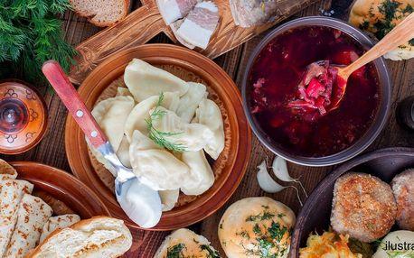 Ukrajinské menu: boršč, vareniky i palačinky