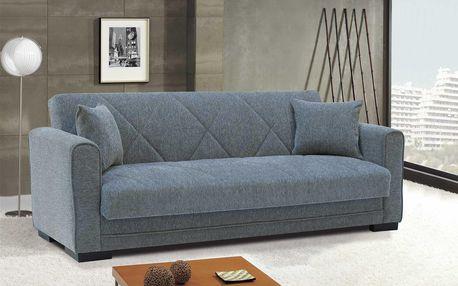 Rovná pohovka s úložným prostorem ADELE ecem gray šedá