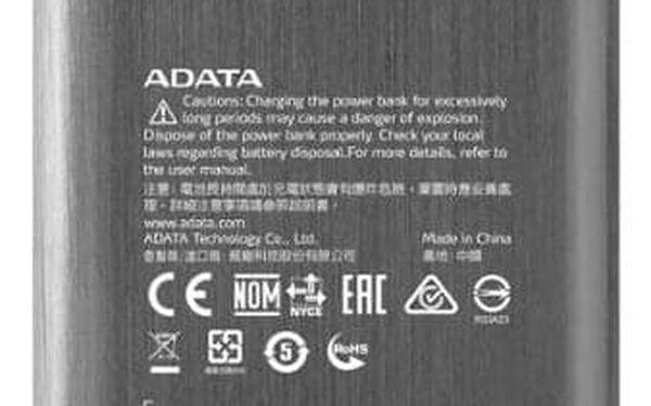 Powerbank ADATA X7000 7000mAh titanium (AX7000-5V-CTI)3