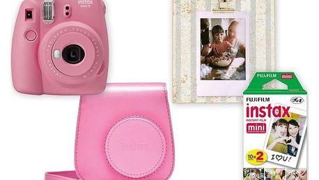 Fujifilm Instax mini 9 + pouzdro růžový