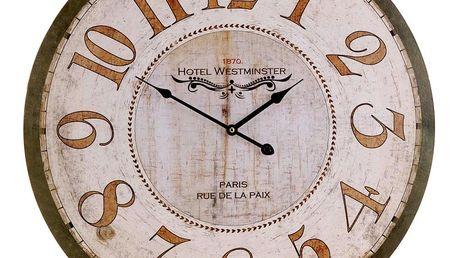 Emako Nástěnné hodiny HOTEL WESTMINSTER - kulaté Ø 60 cm