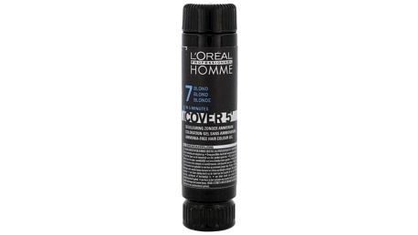 L´Oréal Professionnel Homme Cover 5´ 3x50 ml barva na vlasy pro muže 7 Medium Blond
