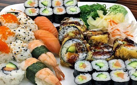 Set s 34 kousky sushi: losos, kreveta i krab