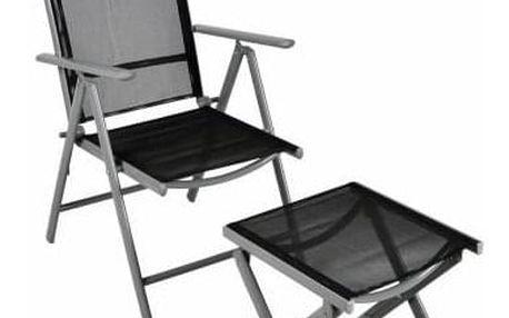 Garthen 6351 Hliníková skládací židle s nánožníkem