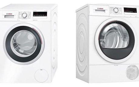 Set Bosch - pračka WAN28260CS + sušička WTR85V00CS