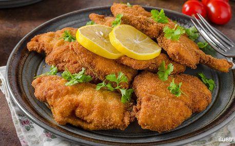500 nebo 1000 g kuřecích řízků pro dva i partu