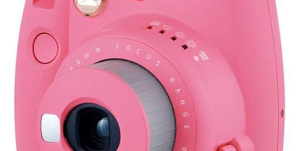 Digitální fotoaparát Fujifilm Instax mini 9 + pouzdro růžový2