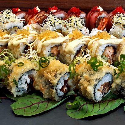 Pochutnejte si: 32 ks sushi s lososem i krevetami