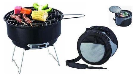Sharks Zahradní venkovní Kemping Grill BBQ + chladící taška
