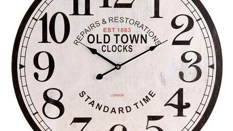 Emako Nástěnné hodiny OLD TOWN - kulaté Ø 60 cm