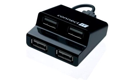 USB Hub Connect IT (CI-108) USB 2.0 / 4x USB 2.0 černý (CI-108)