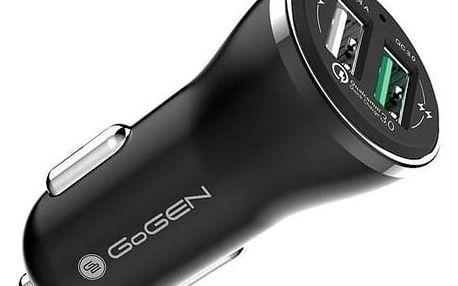 GoGEN CHQ 27, 2x USB, 2,4A s funkcí rychlonabíjení QC 3.0 černá